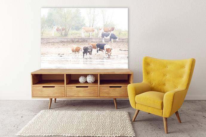 Canvas met koeien